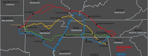 Routes of the Trail of Tears